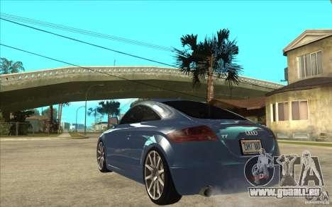 Audi TT 3.2 Coupe pour GTA San Andreas sur la vue arrière gauche