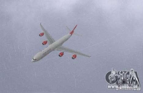 Airbus A340-600 Virgin Atlantic pour GTA San Andreas laissé vue