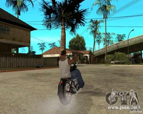 C&C chopeur pour GTA San Andreas sur la vue arrière gauche