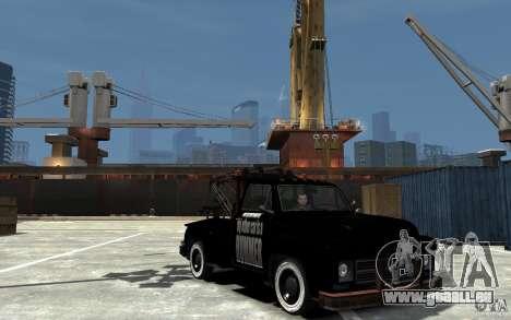 Black Towtruck für GTA 4 Rückansicht