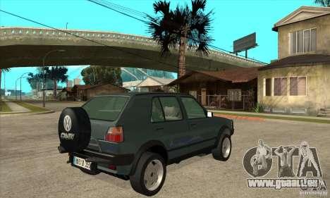 Volkswagen Golf Country MkII Syncro 4x4 1991 für GTA San Andreas rechten Ansicht