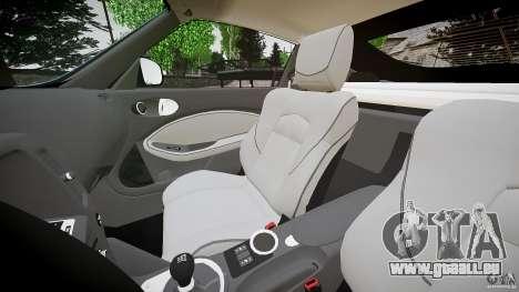 Nissan 370Z Coupe 2010 für GTA 4 Innenansicht