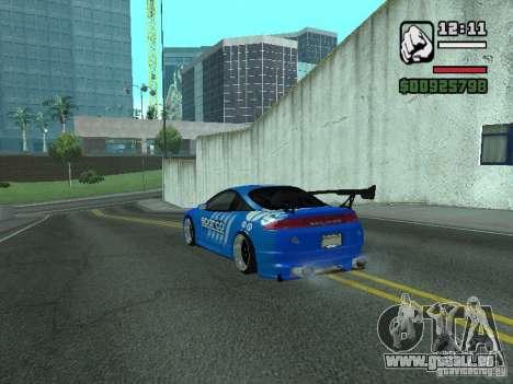 Mitsubishi Eclipse Tunning für GTA San Andreas zurück linke Ansicht