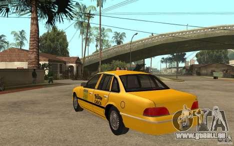 Ford Crown Victoria Taxi 1992 für GTA San Andreas zurück linke Ansicht