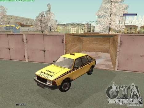 2141 Moskvitch AZLK Taxi v2 pour GTA San Andreas vue de dessous