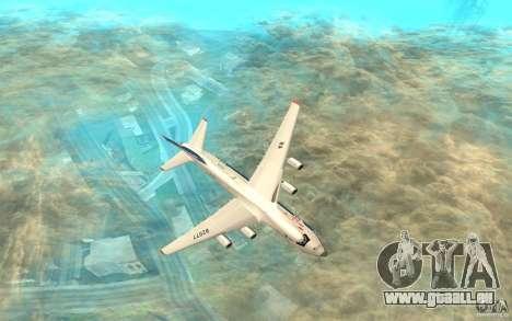 L'an-124 Ruslan pour GTA San Andreas sur la vue arrière gauche