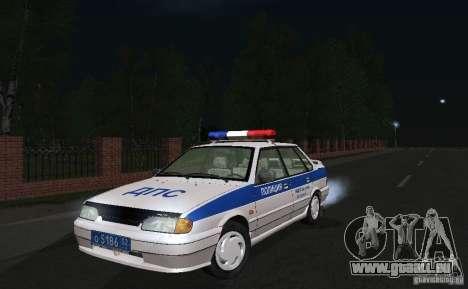 VAZ 2115 Polizei DPS für GTA San Andreas Rückansicht