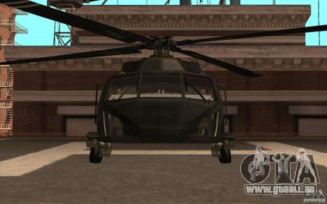Black Hawk from BO2 für GTA San Andreas linke Ansicht