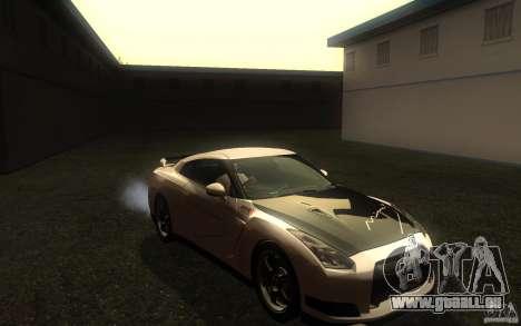 Nissan GTR R35 Spec-V 2010 für GTA San Andreas Rückansicht