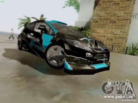 Ford Fiesta RS pour GTA San Andreas vue de dessous
