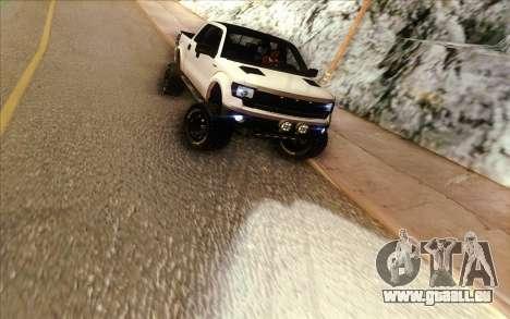 Ford F-150 Carryer Metal Mulisha für GTA San Andreas Rückansicht