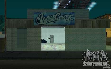 west coast coustoms pour GTA San Andreas deuxième écran