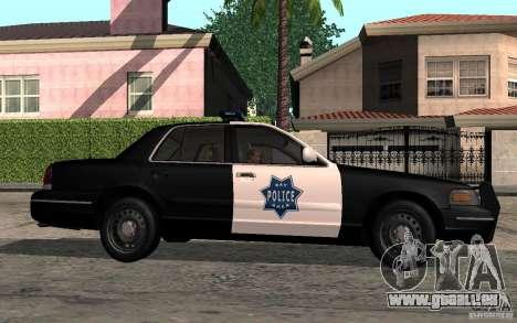 Ford Crown Victoria für GTA San Andreas zurück linke Ansicht