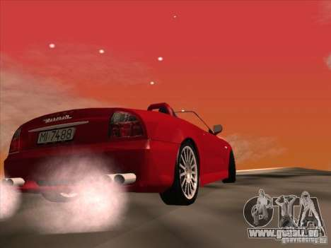 Maserati Spyder Cambiocorsa pour GTA San Andreas vue intérieure