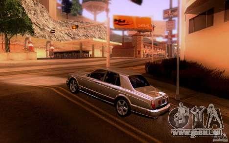 Bentley Arnage pour GTA San Andreas sur la vue arrière gauche