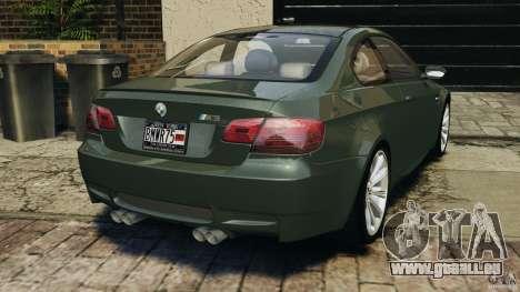 BMW M3 E92 2007 v1.0 [Beta] pour GTA 4 Vue arrière de la gauche