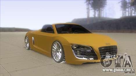 Audi R8 5.2 FSI Spider pour GTA San Andreas vue arrière