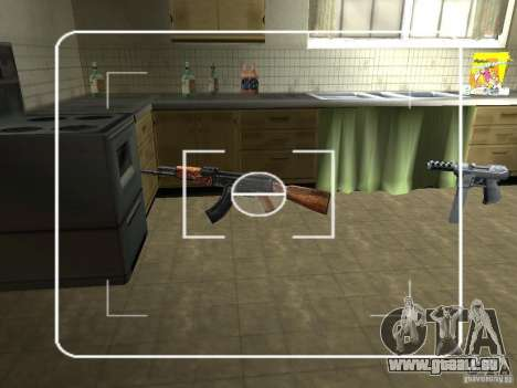 AK HD pour GTA San Andreas deuxième écran