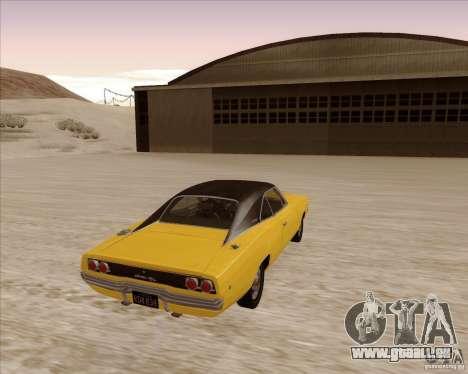 Dodge Charger RT 1968 Bullit clone pour GTA San Andreas vue de droite