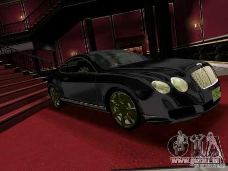 Bentley Continental GT für GTA Vice City zurück linke Ansicht