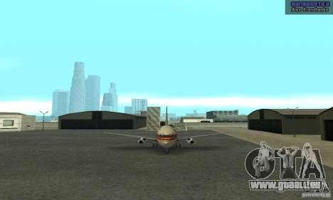 Boeing 737-100 pour GTA San Andreas laissé vue