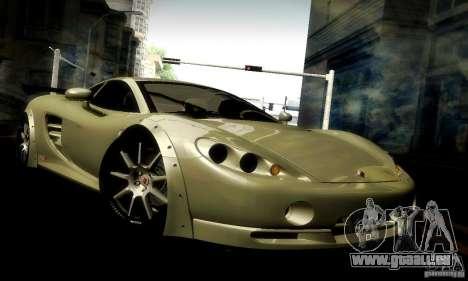 Ascari KZ1R Limited Edition für GTA San Andreas obere Ansicht