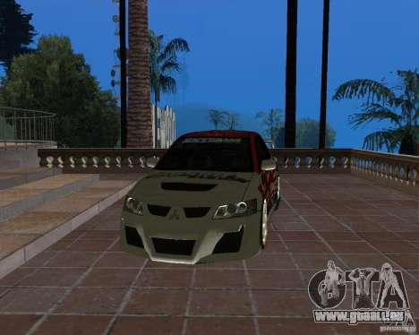 Mitsubishi Lancer Evolution VIII pour GTA San Andreas vue de côté