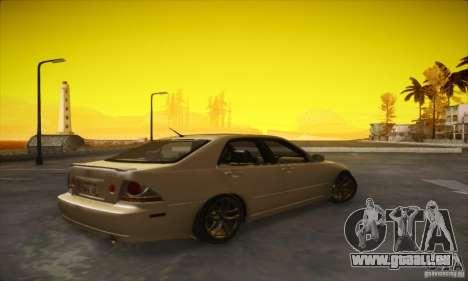 Lexus IS 300 pour GTA San Andreas sur la vue arrière gauche