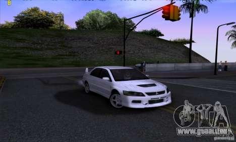 Mitsubishi Lancer Evolution IX 2006 pour GTA San Andreas vue de droite