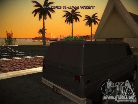 GMC Vandura für GTA San Andreas Rückansicht