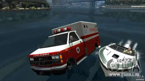 Ambulance boat für GTA 4 Seitenansicht
