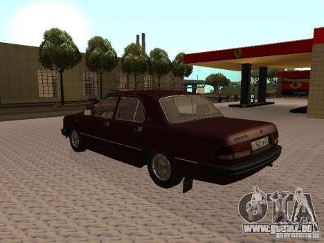 GAZ VOLGA 3110 v1.0 pour GTA San Andreas sur la vue arrière gauche