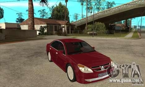 Peugeot 607 pour GTA San Andreas vue arrière