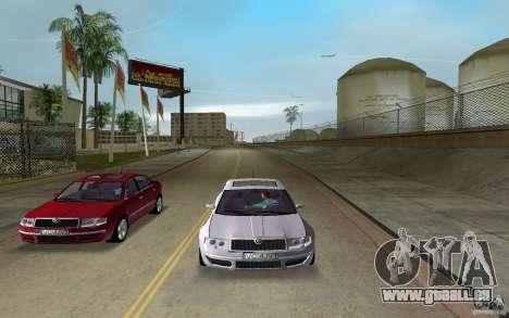 Skoda Superb 2.2 v.4 final für GTA Vice City zurück linke Ansicht