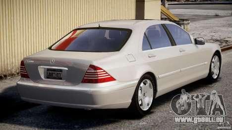Mercedes-Benz W220 pour GTA 4 Vue arrière de la gauche