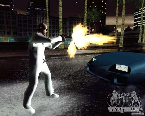 Costume blanc pour GTA San Andreas troisième écran