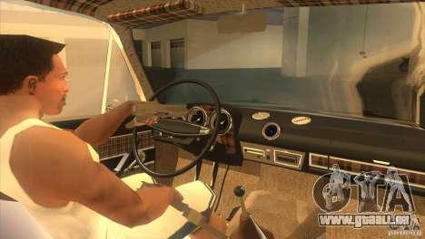 Resto 2103 VAZ pour GTA San Andreas vue intérieure