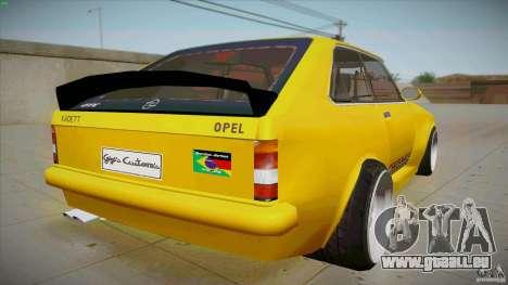 Opel Kadett D GTE Mattig Tuning für GTA San Andreas zurück linke Ansicht
