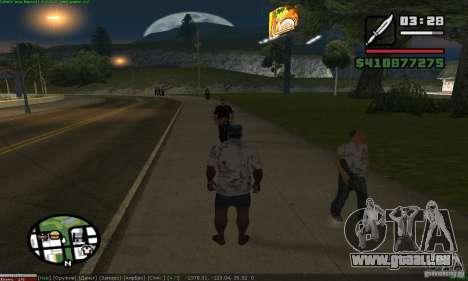 Weapons for pedestrian pour GTA San Andreas deuxième écran