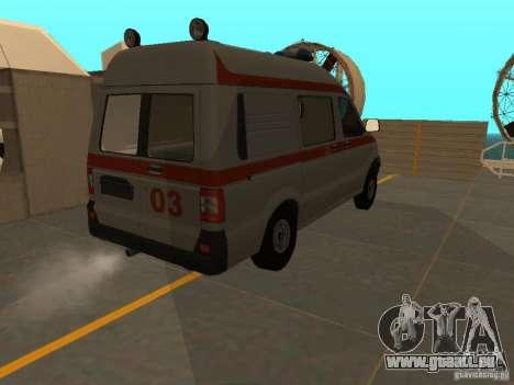 UAZ Simba SC ambulance pour GTA San Andreas vue arrière