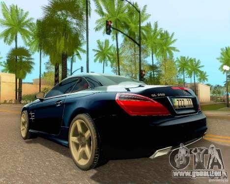 Mercedes-Benz SL350 2013 pour GTA San Andreas vue de côté