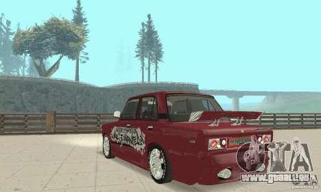 VAZ 2107 Ex Tuning pour GTA San Andreas laissé vue