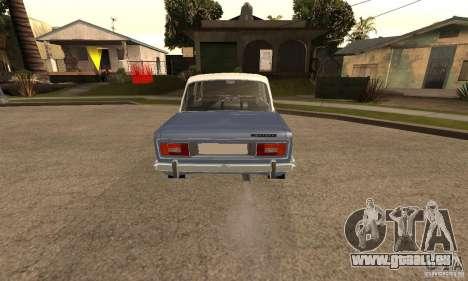 VAZ 2106 alten v2. 0 für GTA San Andreas Rückansicht