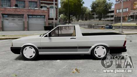 Volkswagen Saveiro 1990 Turbo pour GTA 4 est une gauche