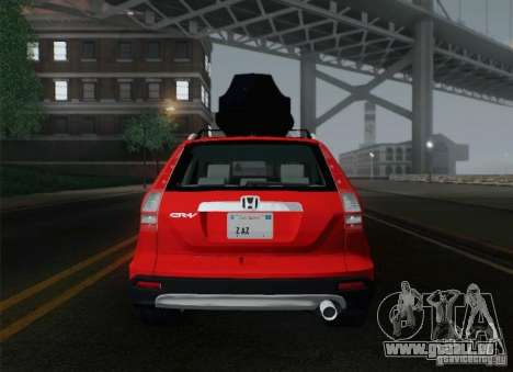 Honda CRV 2011 für GTA San Andreas Unteransicht