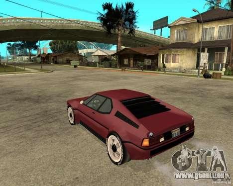 BMW M1 pour GTA San Andreas laissé vue