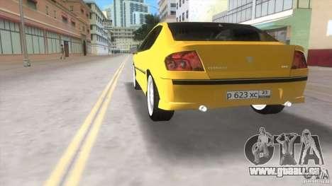 Peugeot 407 pour GTA Vice City sur la vue arrière gauche