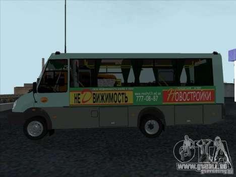 Golaz 3207 pour GTA San Andreas sur la vue arrière gauche
