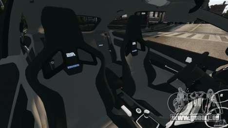 Ford Focus RS pour GTA 4 est une vue de l'intérieur