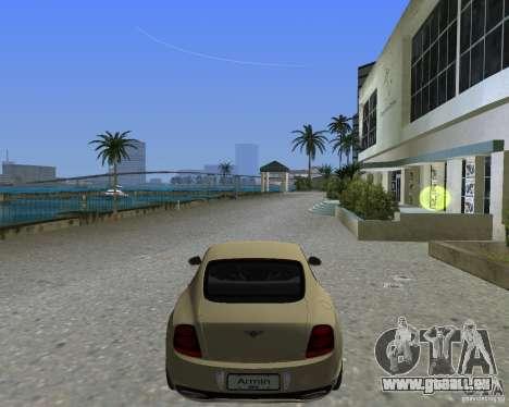 Bentley Continental SS pour une vue GTA Vice City de la gauche